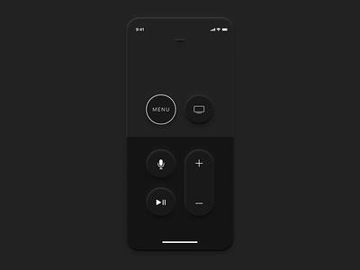 Neumorphism: App Remote TV app design new skeuomorphism skeuomorph skeuomorph app skeuomorphic skeuomorphism trend study case remote tv apple neumorphism app ui design