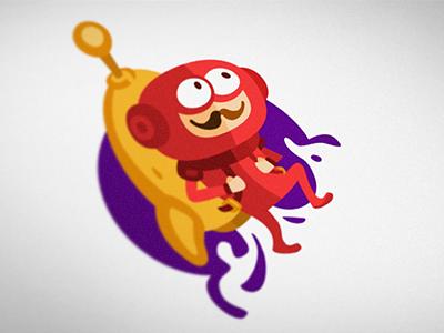 Rocket Life art direction web vector logo ios illustration flat design branding app rocket