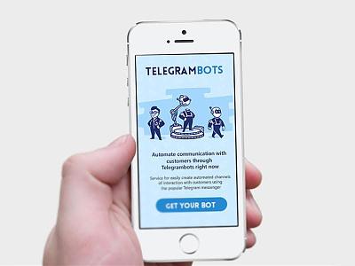 Сonstructor for telegram bots bots vector telegram logo ios illustration flat design branding direction art app
