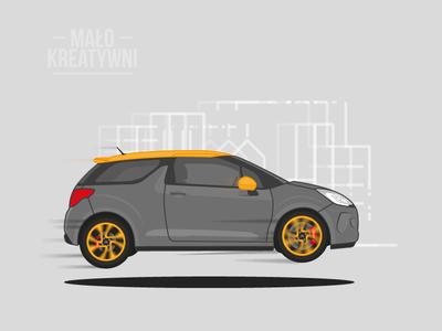 Vector Citroen DS3 Racing ds3racing ds3 citroen vehicle car illustration flat automobile illustrator vector