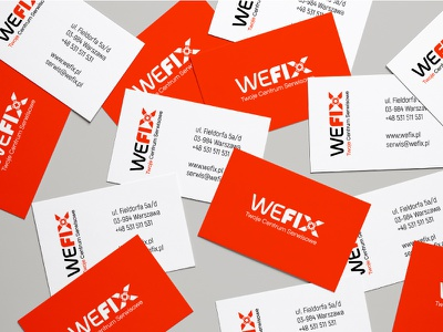 WeFix Business Card computer mac iphone phone service print businesscard