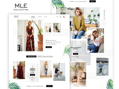 MLE Collection - Website Redesign Proposition web uxdesign uidesign ui page landing homepage mlecollection mle landingpage website