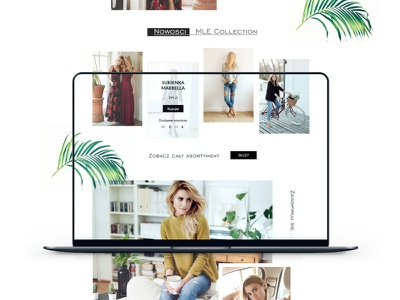 MLE Collection - Website Redesign Proposition website web uxdesign uidesign ui page mlecollection mle landingpage landing homepage