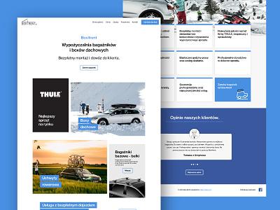 Box4rent Website creative  design website creative agency box4rent thule malokreatywni minimal advertisement creative adobe graphicdesing graphics graphic mockup interfacedesign ux ui uiux webdisign www