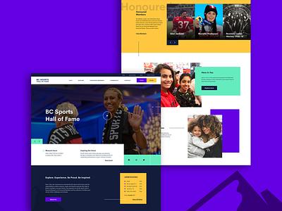 BC Sports Hall of Fame minimal vancouver sports design sports responsive web design web design website web ux ui design