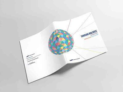 SAMSUNG BIOLOGICS BROCHURE DESIGN visual branding brand bx publishingdesign samsung print bio brochuredesign brochure design