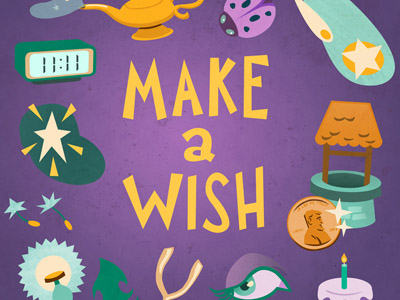 Make a Wish! wish luck card birthday greeting card