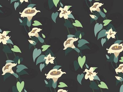 Moonflower repeating pattern vecto botanical vine floral night bloom flower repeating pattern pattern datura moonflower