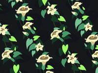 Moonflower repeating pattern