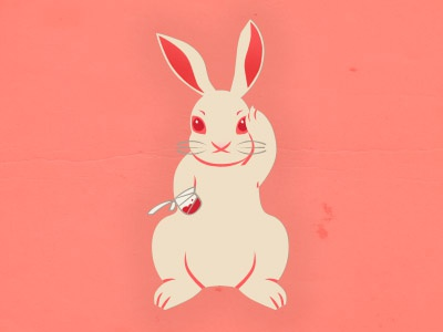 Not So Lucky Rabbit's Foot misfortune fortune luck lucky neko lagomorph bunny lucky rabbits foot salmon pink