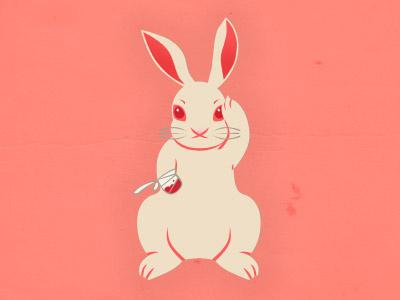 Not So Lucky Rabbit's Foot misfortune fortune luck lucky neko lagomorph bunny lucky rabbits foot salmon pink
