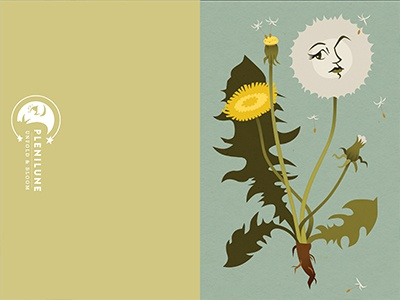 Wish You Were Here Greeting Card leaves leaf weed flower botanical wish you were here missing you wish stationery dandelion greeting card