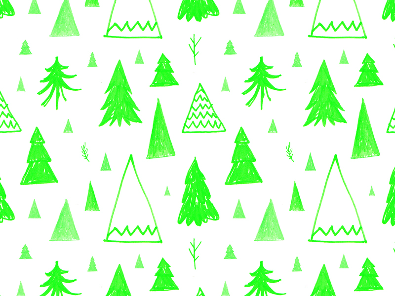 Fir Tree repeating pattern holiday xmas winter christmas pine tree green stationery pattern fir tree pattern
