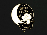Moonflower Enamel Pin Mock