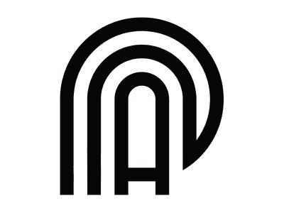 Insignia Concept 5 exploration round timeless simple black and white insignia mockup concept design brand logo