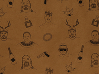 West Coast Xmas Rapping Paper