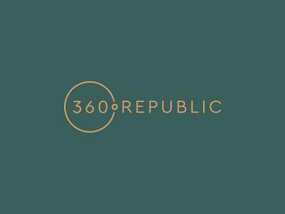 360ºREPUBLIC - Advertising Studio circle world republic total 360 branding icon logo
