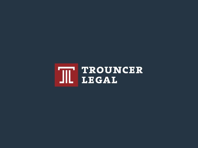 Trouncer Legal · Law firm logo column lawyer advocate law firm logo legal trouncer
