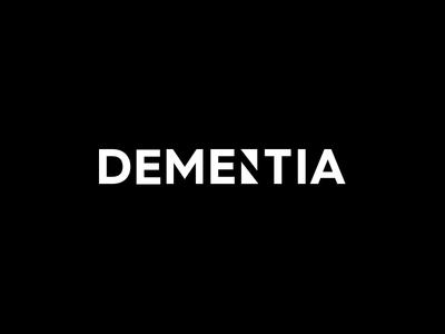 Dementia logo medical desease dementia
