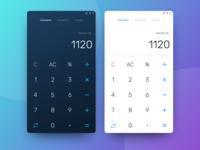 Simple Calulator design - Daily UI Challenge 004