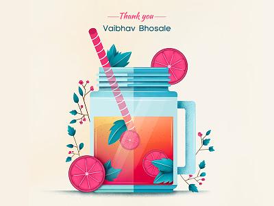 Entering into Dribbble invite you thank beginning freshness illustration firstshot