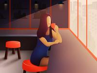 Coffee Mood Illustration