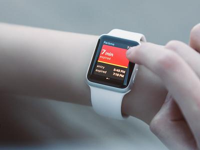 Parking app for watchOS wrist wearable ux ui prototype ios mockup apple watch mockup apple watch design apple watch
