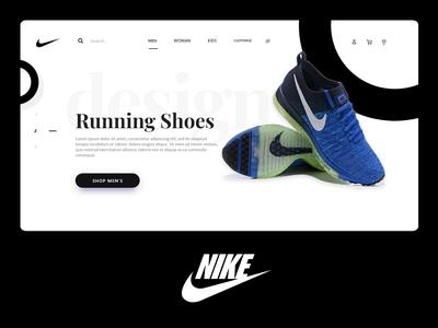 Nike Web Redesign landing page