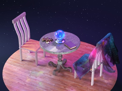 what would you want to know? render modeling 3dart divination comicpower magic colorful clean c4d 3d