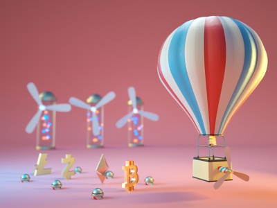who's ready to fly? 3dart motion graphics render illustration graphic design airbaloon fly baloon air crypto design cartoon colorful clean c4d 3d