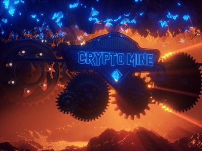 CryptoMine motiongraphic renderlovers octane 3dart render 3drender 3dartist eth cryptoman graphic design c4d 3dgraphic mine abstract mining nft cryptoart crypto motion graphics 3d