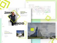 Zaha Hadid Parallax website concept
