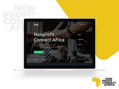 NPCAfrica - Landing Page nonprofit landingpage socialimpact volunteers donations ngo ux ui
