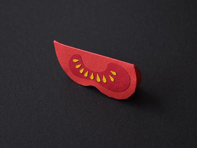 Tomate paper crafts handcrafts crafts paper salad slice fruit vegetable food tomato
