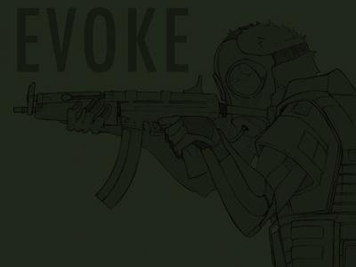 Evoke2 gas mask cigarett mp5 soldier steam punk grunge goggles darkravenxi jordan brantner