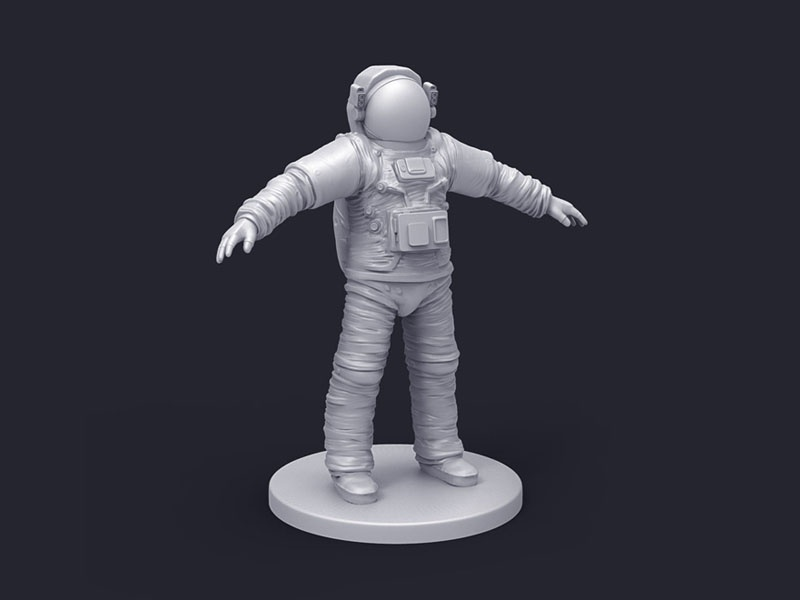 Astro mudbox motion mood design astronaut 3d