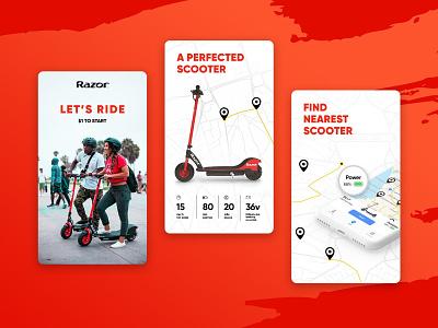 Web Design & Mobile App UI Design - Razor USA conversion form design iconography minimalist product design social share mobile uiux maps mobile app design interactive design web design design