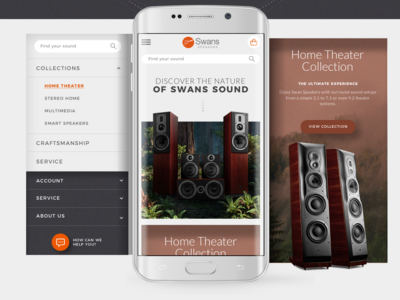 Swan Speakers Mobile Website Design