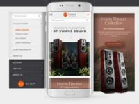 Swan Speakers Mobile Website Design