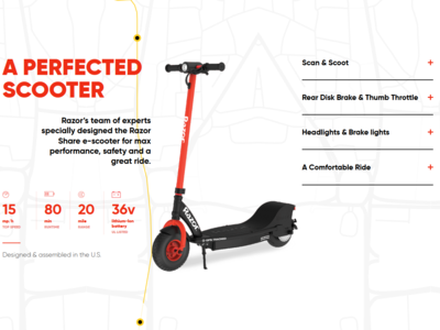 Razor Share e-Scooter Website Design