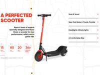 Razor Share e-Scooter Website Design