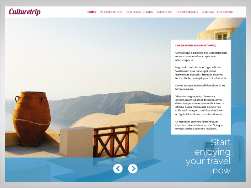 Travel agency onepage site travel site onepage