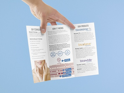 Chemical Company Brochure marketing information fold bran material editorial vertical collateral brochure