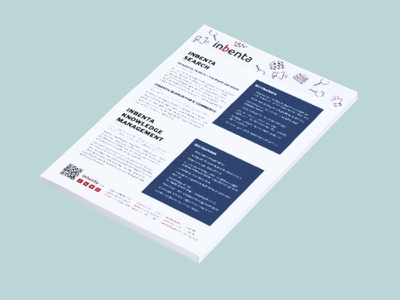 Product one page marketing information print bran material editorial vertical collateral brochure