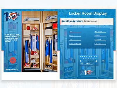 Oklahoma City Thunder - Interactive Fan Display basketball sports nba ux ui design