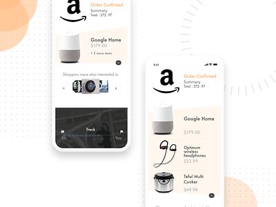 Amazon Order Confirmation UI branding page product amazon design ux ui