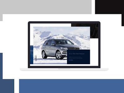 Mercedes Benz Website Redesign like follow dribbble shot creative product page landing web design ux ui