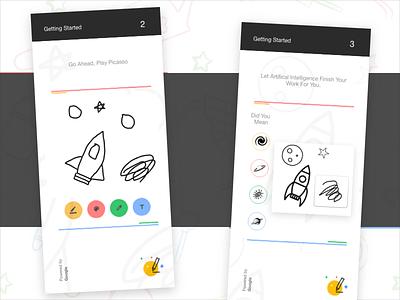 Google Autodraw Redesign playful interface clean designer ios ux minimal creative google design ui mobile