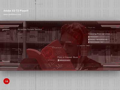 Adobe XD T2 Playoff xd design-thinking guelph toronto ux adobe funny game movie hud ui design