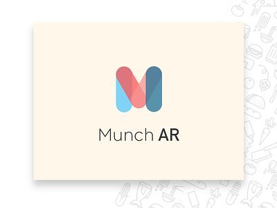 Munch AR - Logo typography designer creative logo branding ios mobile design ux ui augmentedreality